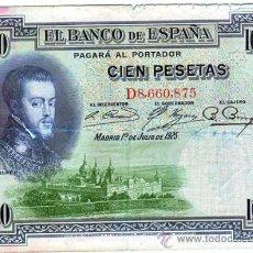Münzen der Zweiten Republik - 100 pesetas 1º de Julio de 1925 Felipe 2º serie D8660875 - 16596043