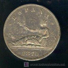 Monedas República: 5 PESETAS EMISION 1870. Lote 26701499