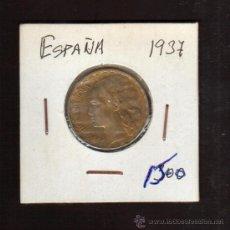 Monedas República: 1 PESETA 1937...MONEDA DEL ESTADO ESPAÑOL. EPOCA REPUBLICA BUENA CONSERVACION. Lote 27597585