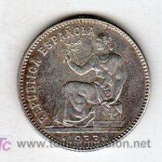 Monedas República: UNA PESETA 1933 REPUBLICA PLATA. Lote 18565572