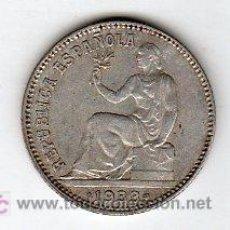 Monedas República: UNA PESETA 1933 REPUBLICA PLATA. Lote 24080180