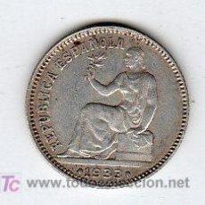 Monedas República: UNA PESETA 1933 REPUBLICA PLATA. Lote 18565607