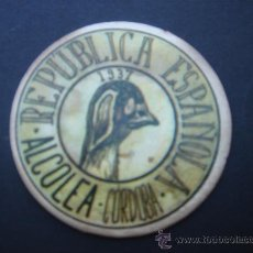 Monedas República: CARTÓN MONEDA LOCAL DE ALCOLEA (CÓRDOBA) -TIMBRE MÓVIL-, CON SELLO 2 CTS II REPÚB. MBC+. Lote 28105495