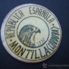 Monedas República: CARTÓN MONEDA LOCAL DE MONTILLA (CÓRDOBA) -TIMBRE MÓVIL-, CON SELLO 20 CTS II REPÚB. MBC+. Lote 28105566