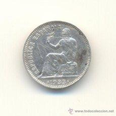 Monedas República: BARATA PESETA DE PLATA AÑO 1933 ESTRELLAS 34 II REPUBLICA RAYITAS ANVERSO.. Lote 28228457