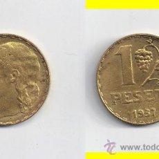 Monedas República: II REPUBLICA: 1 PESETAS 1937. Lote 29151229