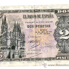 Monedas República: BANCO DE ESPAÑA * DOS PESETAS .BURGOS .II AÑO TRIUNFAL. Lote 30378325