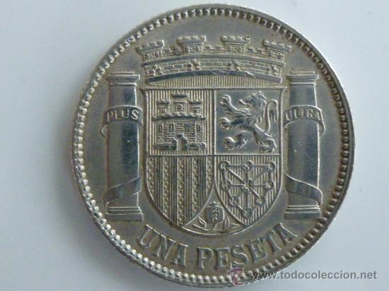 Monedas República: 1933 2º REPUBLICA - MONEDA DE 1 PESETA - *3*4 - Foto 2 - 30491340