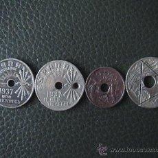 Monedas República: MONEDA DE 25 CENTIMOS DE ESPAÑA AÑO 1937 II AÑO TRIUNFAL Y OTRAS. Lote 34051073