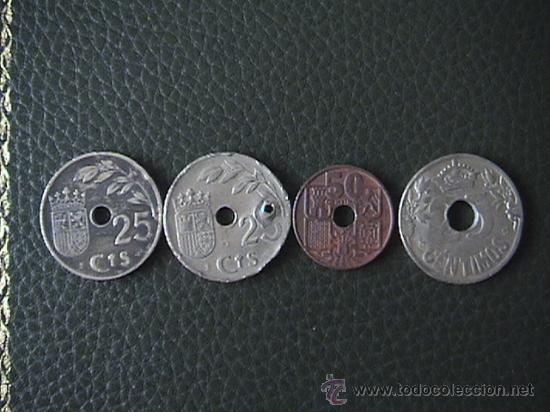 Monedas República: MONEDA DE 25 CENTIMOS DE ESPAÑA AÑO 1937 II AÑO TRIUNFAL y otras - Foto 2 - 34051073