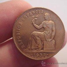 Monedas República: MONEDA DE 50 CÉNTIMOS, REPÚBLICA ESPAÑOLA, AÑO 1937, EBC. Lote 35082661