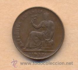 Monedas República: MONEDA 727 II REPÚBLICA. 50 CÉNTIMOS. 1937. SIN ESTELLAS. PUNTOS CUADRADOS. EBC 22 MM - Foto 3 - 37572124
