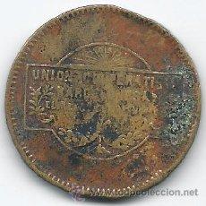 Monete Repubblica: 6157- MONEDA DE 10 CTS.-UNION COOPERATIVA BARCELONESA EL RELOJ Y LA CIUDAD. Lote 37603912
