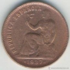 Monedas República: MONEDA DE 50 CÉNTIMOS DE 1937 DE LA REPÚBLICA. COBRE. Lote 115082439