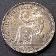 Moedas República: II REPÚBLICA - 1 PESETA 1933 (3-4) PÁTINA ORIGINAL. Lote 42795969