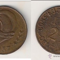 Monedas República: MONEDA DEL CONSEJO MUNICIPAL DE IBI DE 25 CÉNTIMOS DE 1937. MBC+ CATÁLOGO CALICÓ-218. (GC2).. Lote 45487133