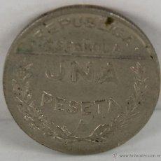 Monedas República: MONEDA REPUBLICA ESPAÑOLA. 1 PESETA. CONSEJO DE SANTANDER, PALENCIA Y BURGOS. 1937. . Lote 45696995