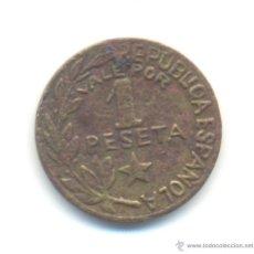 Monedas República: BAR- UNA PESETA DE LOS CONSEJOS DE MENORCA 1937 GUERRA CIVIL. Lote 45747675