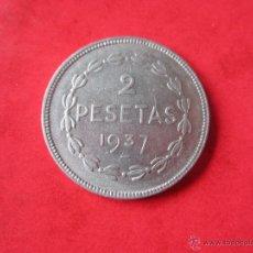 Monedas República: GOBIERNO DE EUZKADI. 2 PESETAS DE 1937. Lote 47948670