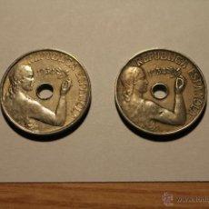 Münzen der Zweiten Republik - 2 MONEDAS REPUBLICA ESPAÑOLA 1934 - 25 CTS. - 51191930