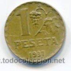 Monedas República: UNA (1) PESETA REPUBLICA ESPAÑOLA AÑO 1937. Lote 52356298