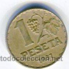 Monedas República: UNA (1) PESETA REPUBLICA ESPAÑOLA AÑO 1937. Lote 52356305