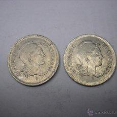 Monedas República: 2 MONEDAS DE 1 PESETA DE 1937 EUSKADI. GUERRA CIVIL. Lote 52361199