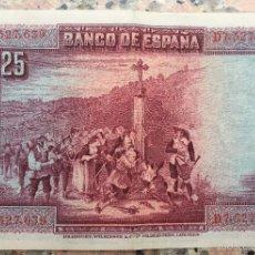 Monedas República: BILLETE DE 25 PESETAS DEL AÑO 1928 - D7.527.639. Lote 55123418