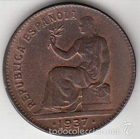 SEGUNDA REPÚBLICA. 50 CÉNTIMOS. 1937 EBC+. (Numismática - España Modernas y Contemporáneas - República)