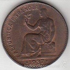 Monedas República: SEGUNDA REPÚBLICA. 50 CÉNTIMOS. 1937 EBC+.. Lote 55781578