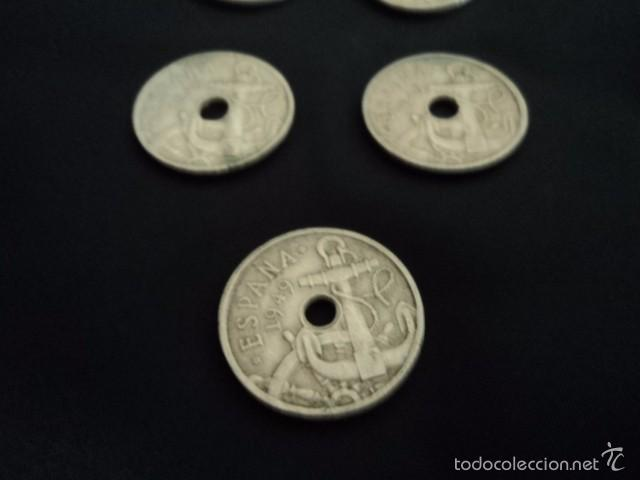 Monedas República: GRAN LOTE DE 5 MONEDAS ANTIGUAS 50 CENTIMOS ESPAÑA 1949 DISTINTAS MONEDA RARA COLECCION - Foto 2 - 56878692