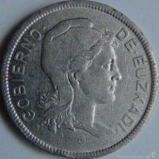 Monedas República: MONEDA 2 PESETAS. 1937. EUZKADI. PAÍS VASCO. GUERRA CIVIL. ESPAÑA. Lote 56881578