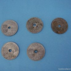 Monedas República: MONEDA DE ESPAÑA. LOTE 4 MONEDAS DE 25 CÉNTIMOS 1937 Y 1 1934. UNA GRANDE LIBRE. EL AÑO TRIUNFAL. Lote 57479903