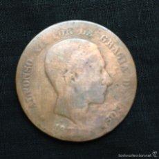Monedas República: ANTIGÜA MONEDA EN COBRE ALFONSO XII ESPAÑA AÑO 1.878 10 CÉNTIMOS. Lote 57542491