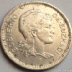 Monedas República: MONEDA 1 PESETA. 1937. EUZKADI. PAÍS VASCO. GUERRA CIVIL. ESPAÑA. Lote 57628643