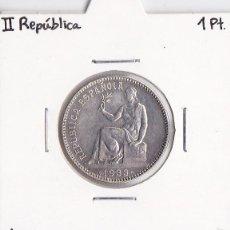 Monedas República: 1 PESETA 1933 II REPÚBLICA. Lote 58133695