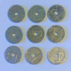 Monedas República: ESPAÑA *** LOTE 9 MONEDAS ESPAÑOLAS REPUBLICA ***. Lote 58176460