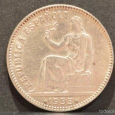 Monedas República: 1 PESETA 1933 *3*4 PARTE DE BRILLO ORIGINAL PLATA REPUBLICA ESPAÑA. Lote 58642984