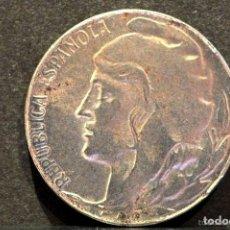 Monedas República: 5 CENTIMOS 1937 HIERRO GUERRA CIVIL REPUBLICA ESPAÑA. Lote 60996345