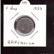 Monnaies République: 5 CENTIMOS DE LA REPUBLICA 1937 MBC++++NUMERO 671. Lote 65383055