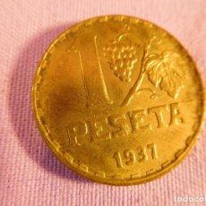 Monedas República: MONEDA DE 1 PESETA, DE LA 2ª REPUBLICA, 1937, DE LATÓN. Lote 69655605