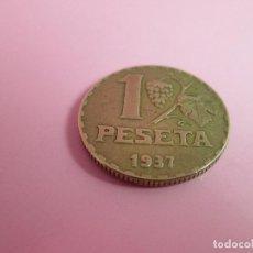 Monedas República: (12)-ANTIGUA MONEDA-ESPAÑA-1 PESETA-REPÚBLICA ESPAÑOLA-1937-23 MM.D-VER FOTOS.. Lote 70374589