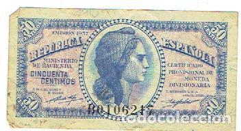 50 CENTIMOS 1937 (Numismática - España Modernas y Contemporáneas - República)