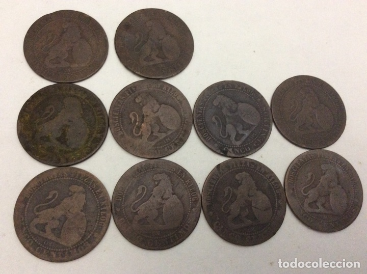Monedas República: 10 monedas 1878 5 céntimos - Foto 2 - 74270290