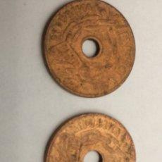 Monedas República: 2 MONEDAS DE 25 CENTIMOS DE 1930. Lote 74277967