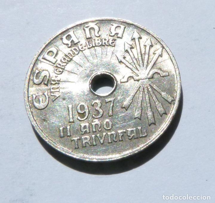 MONEDA DE 25 CENTIMOS SEGUNDA REPÚBLICA AÑO 1937 CALIDAD CASI SIN CIRCULAR (Numismática - España Modernas y Contemporáneas - República)