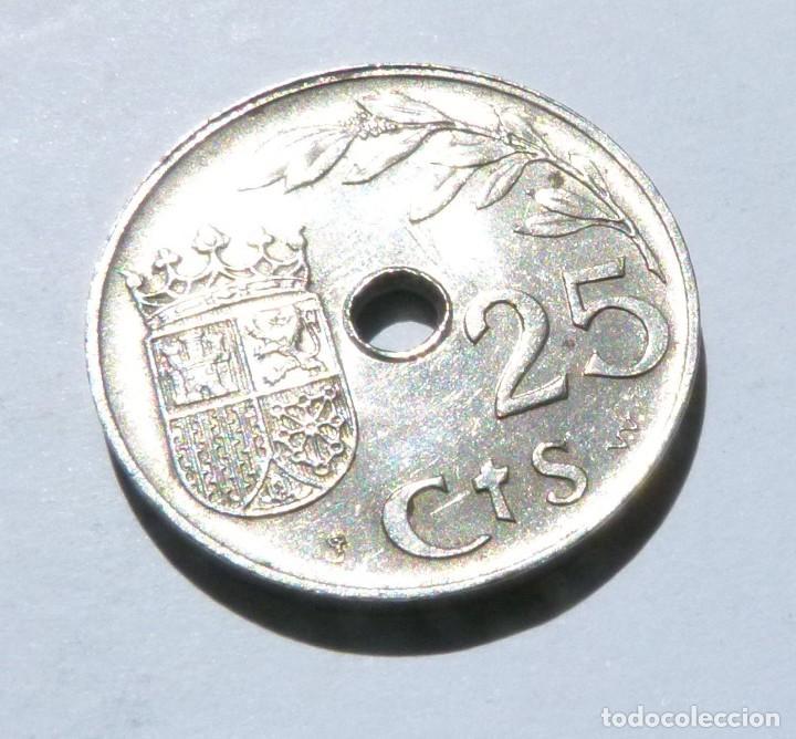 Monedas República: MONEDA DE 25 CENTIMOS SEGUNDA REPÚBLICA AÑO 1937 CALIDAD CASI SIN CIRCULAR - Foto 2 - 169607296