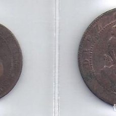 Monedas República: LOTE DE2 MONEDAS DE 5 Y 10 CENTIMOS DE 1870 (21870). Lote 82358772