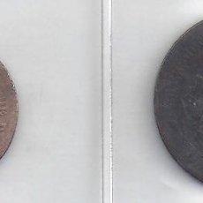 Monedas República: LOTE DE 2 MONEDAS DE 5 Y 10 CENTIMOS DE ALFONSO XIII 1878 (21878). Lote 82359628