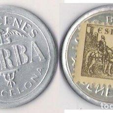Monedas República: DISCO MONEDA REPUBLICA -SELLO 5 CTS. **ALMACENES JORBA** EBC (DIFISIL ADQUIRIR). Lote 83432424